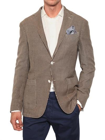 Boglioli Linen Blend Deconstructed Jacket