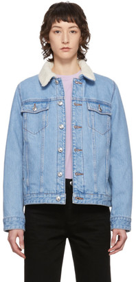 A.P.C. Blue Denim Arlette Jacket