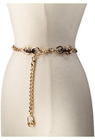 MICHAEL Michael Kors Chain Belt with Metal and Tortoise Rings