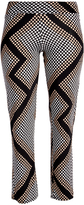 Glam Black & Beige Geometric Dot Straight-Leg Pants - Plus