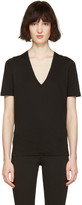 DSQUARED2 Black V-neck Renny Fit T-shirt