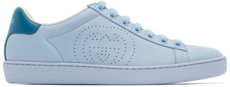 Gucci Blue Interlocking G New Ace Sneakers