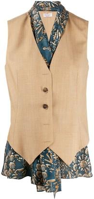 Brunello Cucinelli Layered Slim-Fit Waistcoat