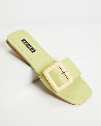 Senso Women's Green Flat Sandals - Hart II - Size One Size, 37 at The Iconic