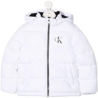 Calvin Klein Kids Padded Hooded Jacket