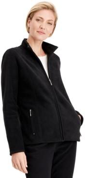 Karen Scott Petite Princess-Seam Zeroproof Zip-Front Jacket, Created for Macy's