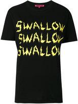 McQ by Alexander McQueen swallow print T-shirt - women - Cotton - XS
