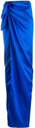 Balenciaga Tie-Waist Wrap Skirt