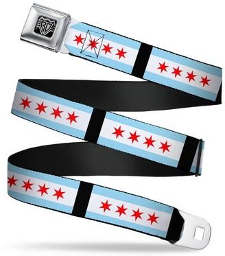 Buckle Down Buckle-Down Unisex-Adult's Seatbelt Belt Chicago XL