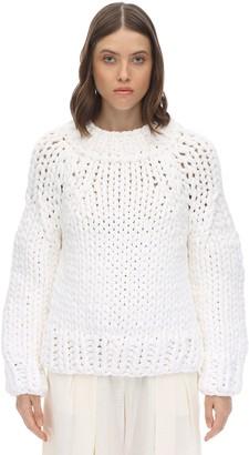 MM6 MAISON MARGIELA Cotton Blend Knit Sweater