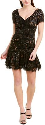 Jonathan Simkhai Ruched Lace Mini Dress