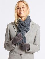 Marks and Spencer Sparkle Scarf & Gloves Set