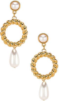 Ettika Drop Pearl Earrings