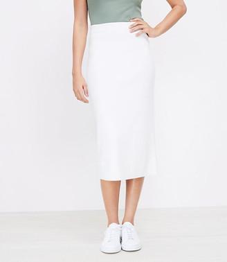 LOFT Ribbed Midi Sweater Skirt