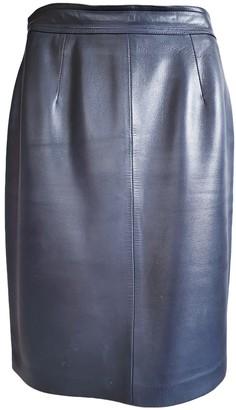 Loewe Blue Leather Skirt for Women Vintage