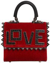 Les Petits Joueurs Micro Alex Love Velvet & Leather Bag