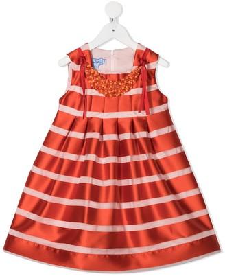 Mi Mi Sol Embellished Stripe Midi Dress