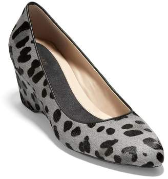 Cole Haan The Go-To Leopard Calf Hair Wedge Pump