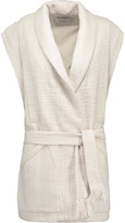 IRO Champlin pleated cotton-tweed vest