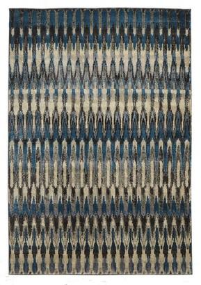 Unitex International Belle Modern Blue Rug