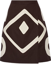 Moschino Cheap & Chic Moschino Cheap and Chic Appliquéd cotton skirt