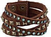 Leather Rock B340 Bracelet