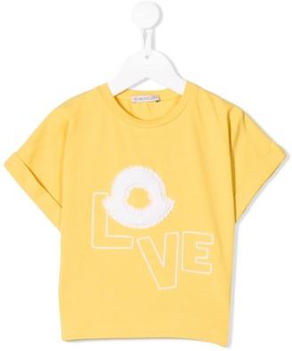 Moncler Enfant Love logo T-shirt