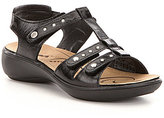 Romika Ibiza 76 Leather Studded Triple Strap Sandals