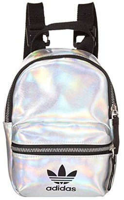 adidas Metallic Mini PU Backpack (Silver Metallic/Iridescent) Backpack Bags