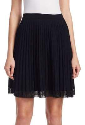 Alexander Wang Micropleat Miniskirt With Chainmail Hem