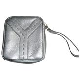 Saint Laurent Silver Leather Clutch bag