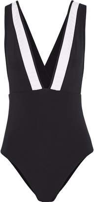 Jets Pleated Swimsuit