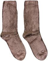 Ann Demeulemeester Gunmetal Laminated Socks