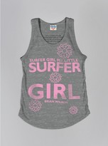 Junk Food Clothing Kids Girls Surfer Girl Tank-steel-l