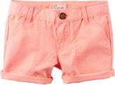 Carter's Little Girls Solid Cuffed Shorts