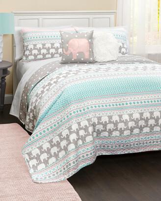 Triangle Home Fashion Elephant Stripe Quilt Set