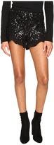 BB Dakota Cristo Sequin Knit Shorts