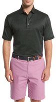 Peter Millar Hoy Pindot Short-Sleeve Polo Shirt, Black