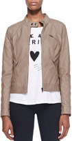 Neiman Marcus Cusp by Malt Quilted Faux-Leather Jacket