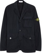 Stone Island Navy Brushed Shell Jacket