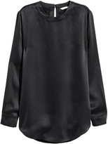 H&M Silk Blouse - Dark gray - Ladies