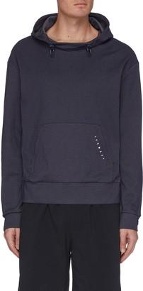 Particle Fever Elastic drawstring pinstripe hoodie