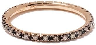 Ileana Makri 18kt Oxidised Rose Gold Classic Diamond Band Ring