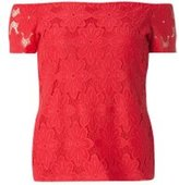 Dorothy Perkins Womens Raspberry Lace Bardot Top- Pink
