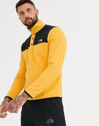 The North Face TKA Glacier Snap fleece in yellow