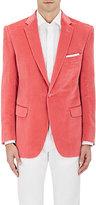 Cifonelli Men's Cotton-Blend Velvet One-Button Sportcoat