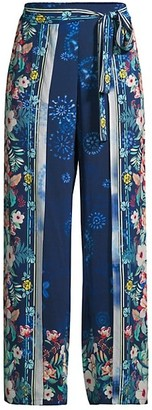 Johnny Was Annia Floral Wide-Leg Pants
