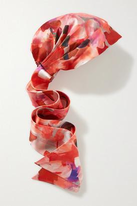 Eugenia Kim Gigi Floral-print Satin-twill Turban - Red