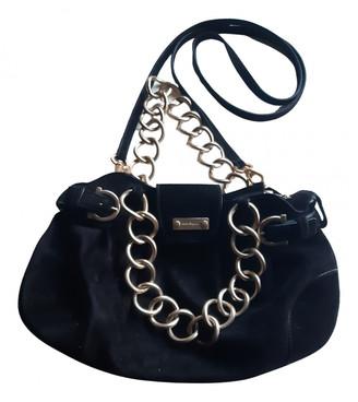 Salvatore Ferragamo Black Suede Handbags