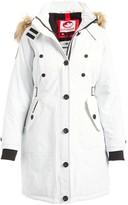 Canada Weather Gear Women's Anoraks & Parkas White - White Faux-Fur Trim Long Parka - Plus